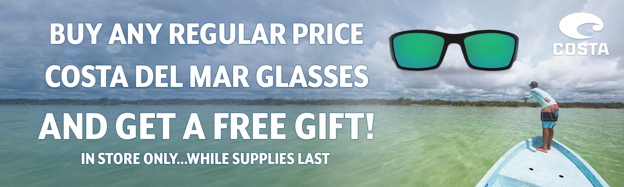 FREE Gift with purchase of regular priced Costa Del Mar sunglasses