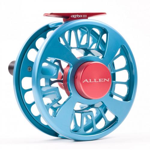 Allen Alpha III Fly Fishing Reel Aquamarine 3