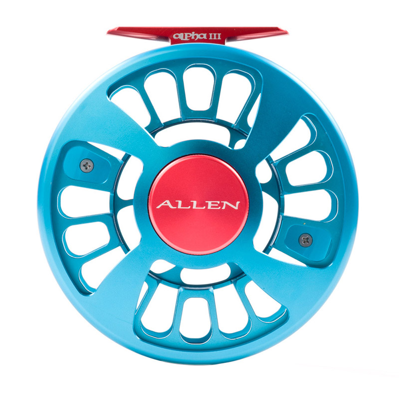 Allen Alpha III Fly Fishing Reel Aquamarine 4
