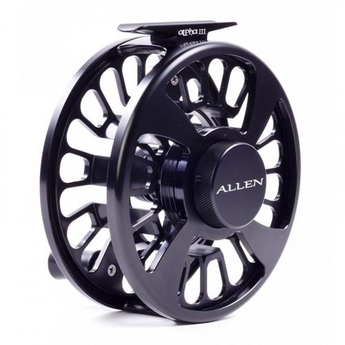 Allen Alpha III Fly Fishing Reel Matte Black 4