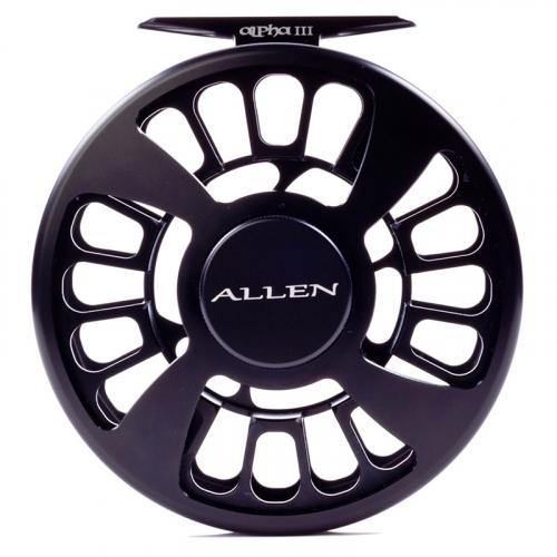 Allen Alpha III Fly Fishing Reel Matte Black 5