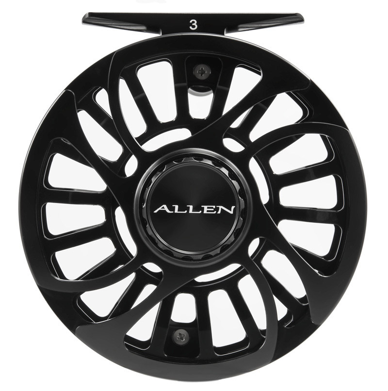 Allen Kraken Fly Fishing Reel Black 3
