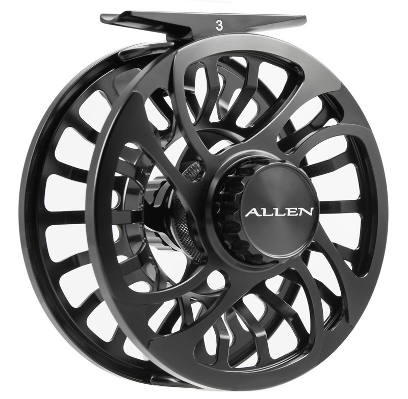 Allen Kraken Fly Fishing Reel Black 4