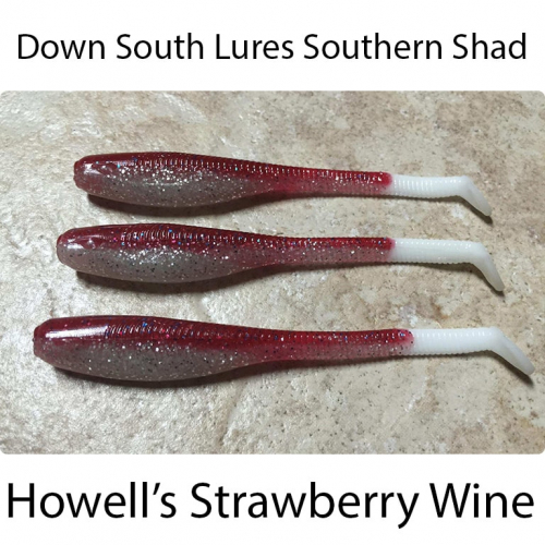 Down South Lures Southern Shad Howells Strawberry Wine
