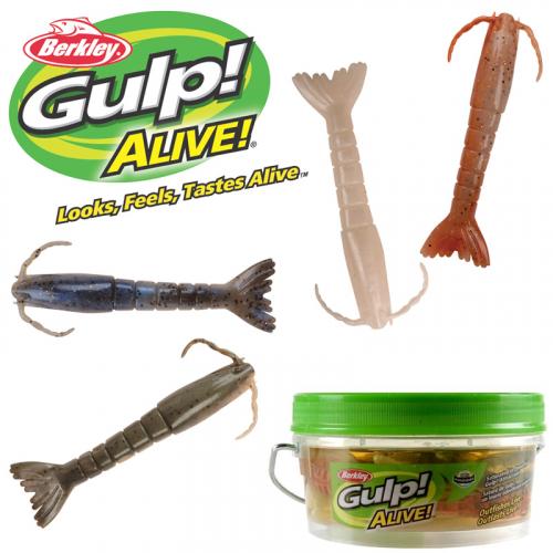 Berkley Gulp Alive 3in Shrimp Assortment Pint Bucket