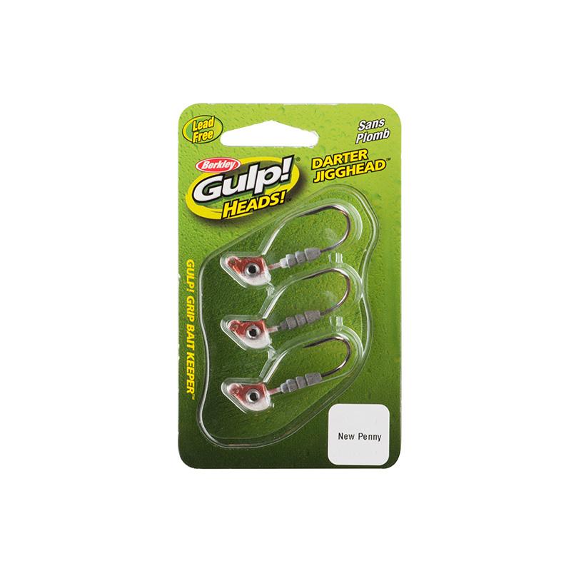 Berkley Gulp Darter Jigghead New Penny Package