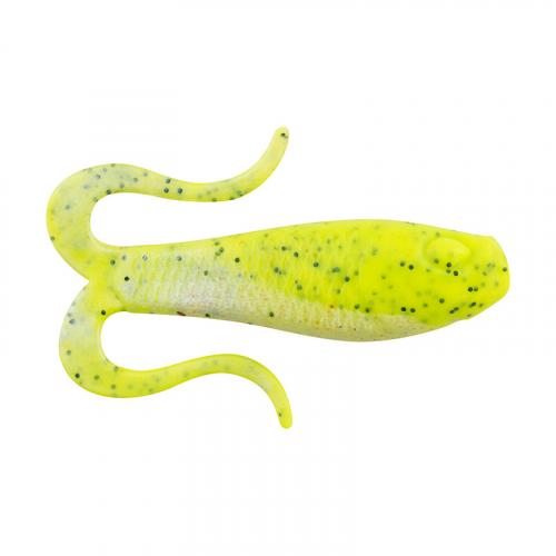 Berkley Gulp Doubletail Swimming Mullet Chartreuse Pepper Neon