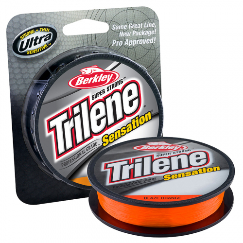 Berkley Trilene Sensation Monofilament Line Blaze Orange Package