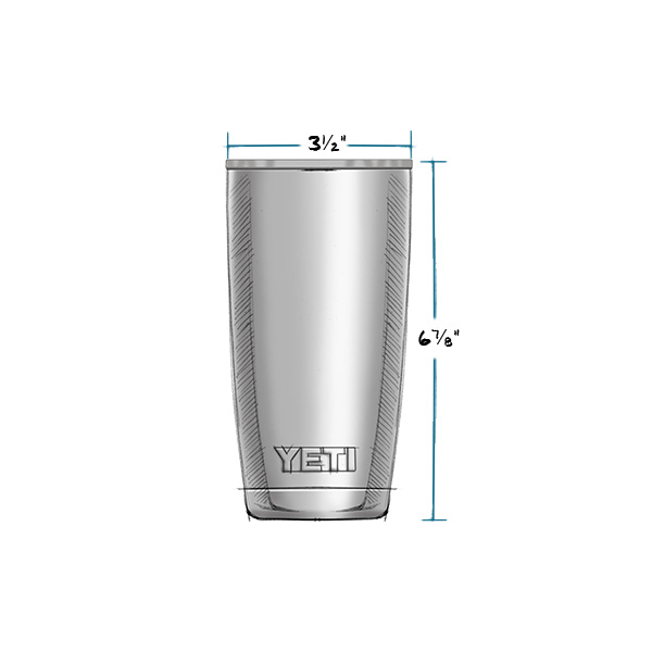 YETI RAMBLER 20 OZ TUMBLER MEASUREMENTS