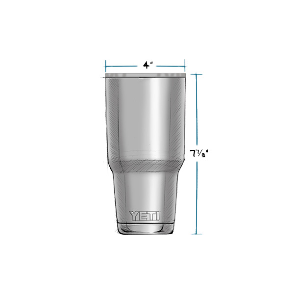YETI RAMBLER 30 OZ TUMBLER MEASUREMENTS