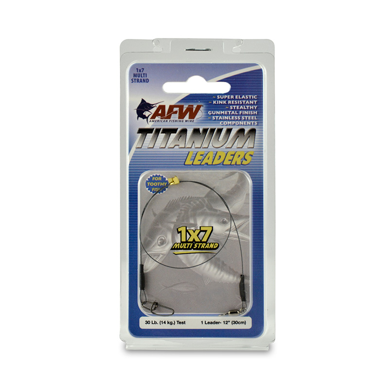 AMERICAN FISHING WIRE TITANIUM 1X7 MULTI STRAND LEADERS EAT1030BL12
