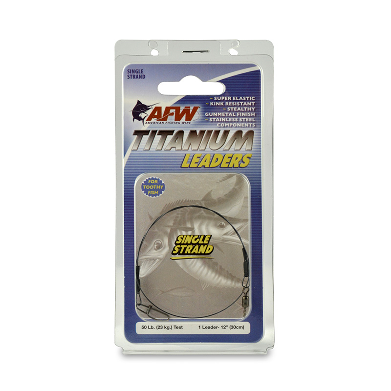 AMERICAN FISHING WIRE TITANIUM SINGLE STRAND LEADERS EST1050BL12