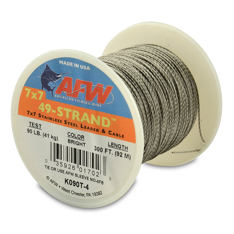 AFW 49-STRAND STAINLESS STEEL SHARK LEADER WIRE K090T-4