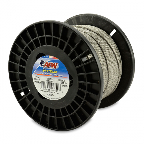 AFW 49-STRAND STAINLESS STEEL SHARK LEADER WIRE K900T-4