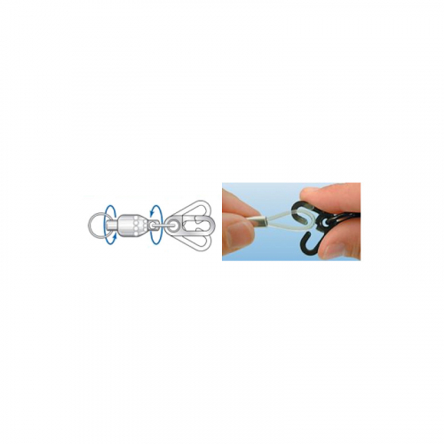 DIAMOND ROTARY BALL BEARING SWIVELS WITH ESCAPE PROOF SNAP
