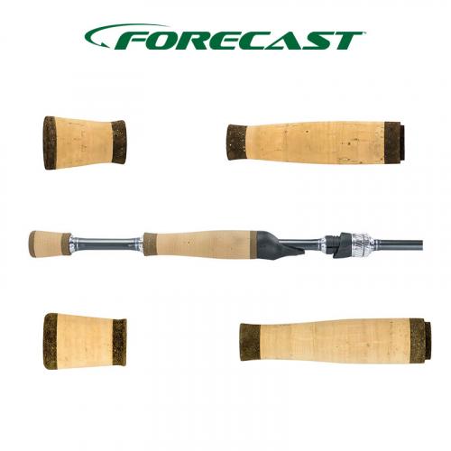 FORECAST SUPER GRADE CORK HDCC/BURL SPLIT GRIPS