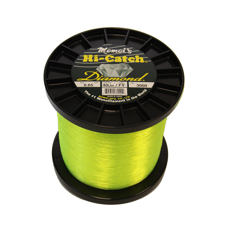 MOMOI HI-CATCH DIAMOND NYLON MONOFILAMENT LINE HIGH VISIBILITY FLUORESCENT YELLOW