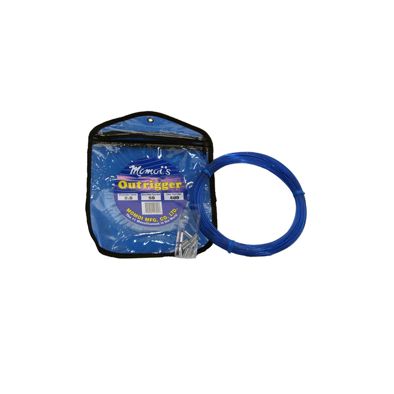 MOMOI OUTRIGGER NYLON MONOFILAMENT LINE KIT BLUE
