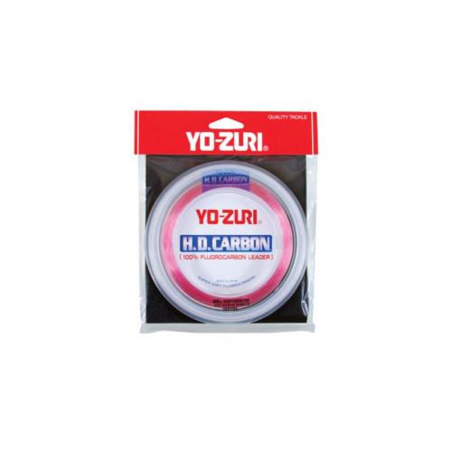 YO-ZURI HD CARBON LEADER 30 YARD SPOOLS DISAPPEARING PINK