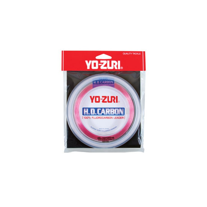 YO-ZURI HD CARBON LEADER 30 YARD SPOOLS DISAPPEARING PINK