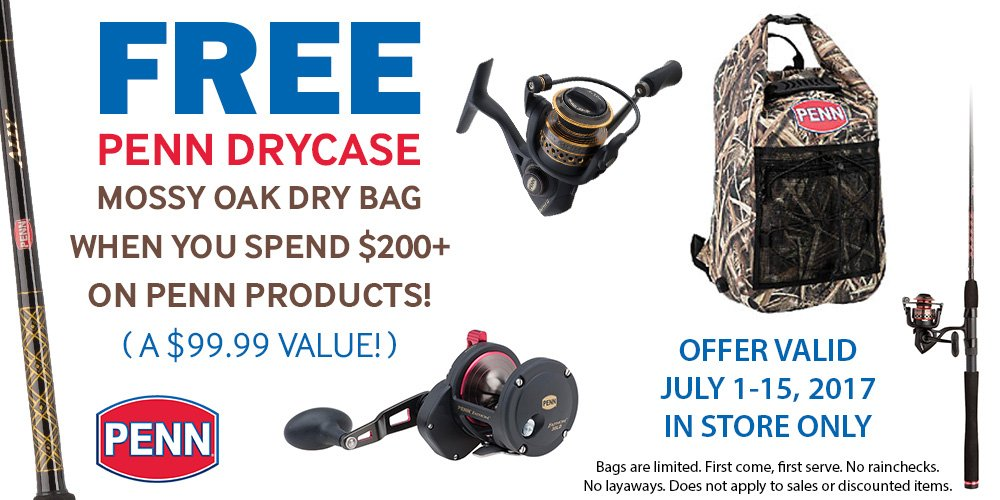 PENN DRYBAG PROMOTION WITH PURCHASE