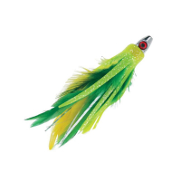 BOONE FEATHER TROLLING JIG 09541 GREEN YELLOW